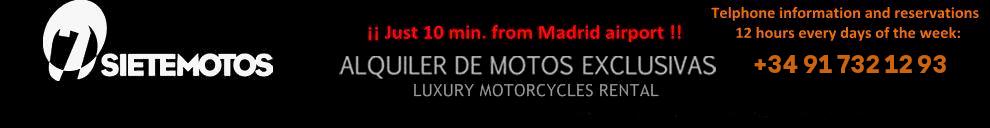 SIETEMOTOS, Alquiler de motos en Madrid, España Logo